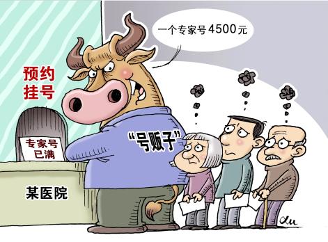"""北京市卫计委主任:建议""""号贩子入刑"""""""