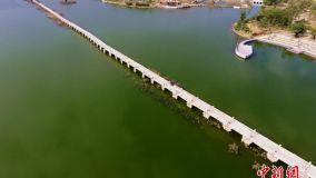 航拍中国现存古代最长石桥——安平桥