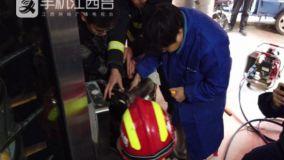 糕点师手掌被卡面条机 新余消防紧急破拆施救