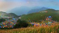 第十二届武功山帐篷节开幕 分四季展开
