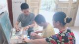 上饶县董团乡大地中心小学开展送教上门活动