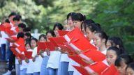 方志敏烈士纪念碑前 乐平百名学生集体诵读《可爱的中国》