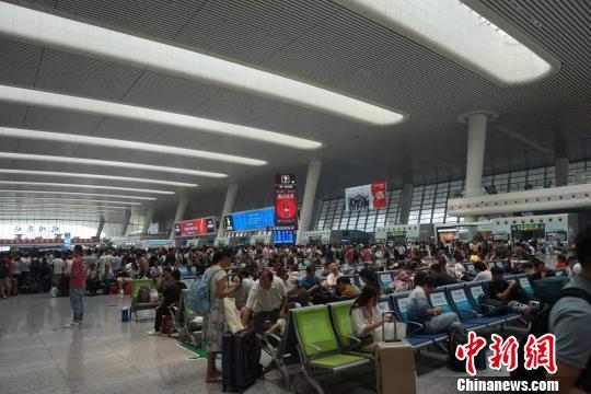 杭州东站候车大厅。 张煜欢 摄