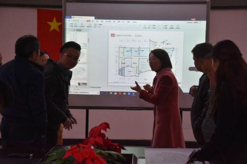 艺术楼改造方案征求专业教师意见现场