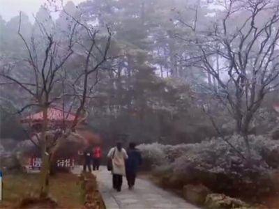 冰晶云霧美景帶熱廬山冬季旅游