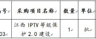 华人娱乐app下载IPTV等级保护2.0建设项目投标邀请书