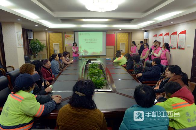 豫章师范学院同心讲学团在塘山镇青湖村宣讲1