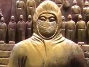 非物質文化遺產傳承人創作雕塑歌頌英雄