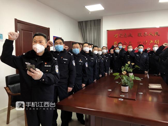 刘稳生前带领所内党员民警重温入党誓词