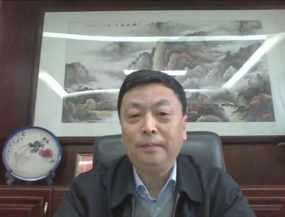 江西财经大学党委书记王乔教授直播连线画面