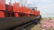 宜春首艘污油水收集船在樟树开工建造