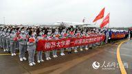 江西省第六批支援湖北医疗队凯旋。时雨/摄