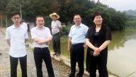 德安县委副书记、县长周三连现场调度防汛工作