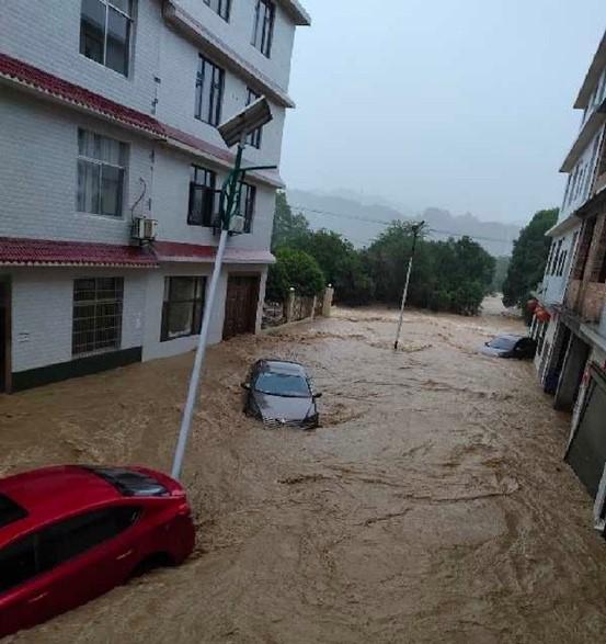 萍乡市芦溪县新泉乡发生洪涝灾害