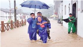 景德镇市干群齐心协力抗洪抢险