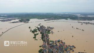 鄱阳湖、饶河水位均突破历史极值  且仍在上涨