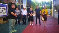 内蒙古住建厅考察组一行到萍乡安源区金典社区考察海绵工程建设