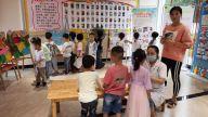 鹰潭市贵溪市花园街道社区卫生服务中心为幼儿园小朋友送健康