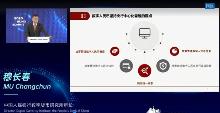 10月25日,中国人民银行数字货币研究所所长穆长春在第二届外滩金融峰会上演讲。