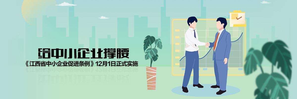 给中小企业撑腰 《江西省中小企业促进条例》12月1日正式实施