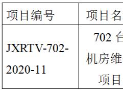 江西广播电视台702台机房维修项目采购中标公告