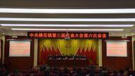 中共桃花镇第三届代表大会第六次会议召开