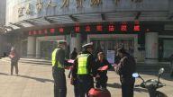 宜春交警直属一大队到人力资源市场开展交通安全宣传