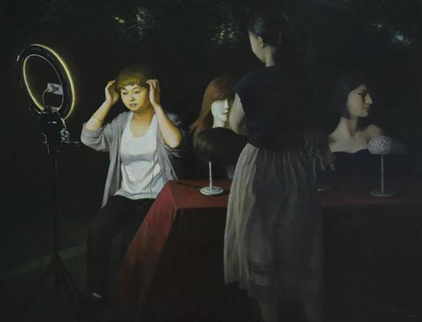 高春雷  《夜·地摊直播》(九江市文广新旅局供图)