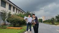 萍鄉市自然資源和規劃局安源分局現場踏勘石油煉化催化劑生產線項目
