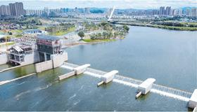 景德镇水利枢纽工程进行试验性蓄水