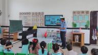 赣州市会昌县中村中心幼儿园:交警走进幼儿园  寓教于乐讲安全