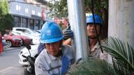 上饶广丰:电缆入地 擦亮城市名片