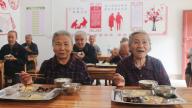 上饶万年:九九重阳老人欢 共享文化美食餐