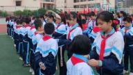 赣州市南康区第六小学举行新队员入队仪式