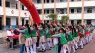 赣州市会昌县西江中心小学举行新队员入队仪式