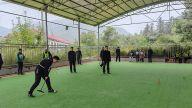 老来有所乐  萍乡金山镇举行门球友谊联赛