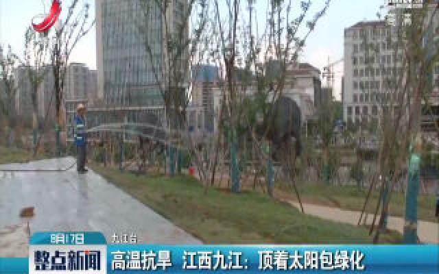 高温抗旱·江西九江:顶着太阳包绿化