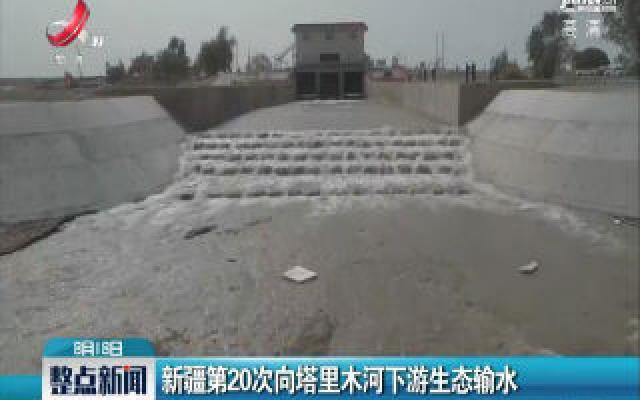 新疆第20次向塔里木河下游生态输水