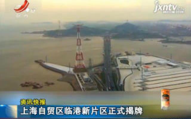 上海自贸区临港新片区正式揭牌