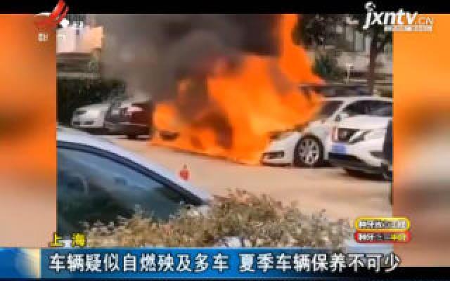 上海:车辆疑似自燃殃及多车 夏季车辆保养不可少