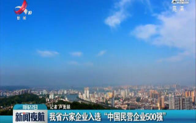 """江西省六家企业入选""""中国民营企业500强"""""""