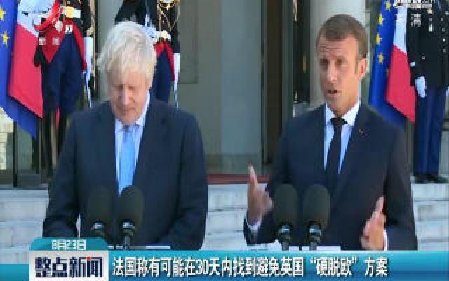 """法国称有可能在30天内找到避免英国""""硬脱欧""""方案"""