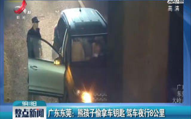 广东东莞:熊孩子偷拿车钥匙 驾车夜行8公里