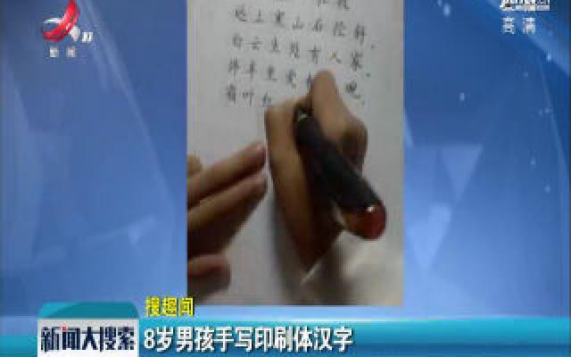 四川:8岁男孩手写印刷体汉字