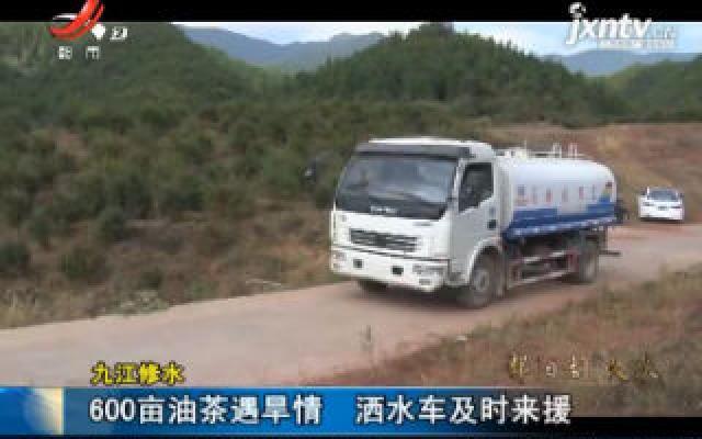九江修水:600亩油茶遇旱情 洒水车及时来援