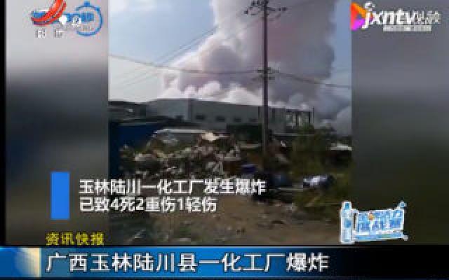广西玉林陆川县一化工厂爆炸