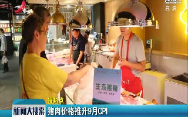 猪肉价格推升9月CPI
