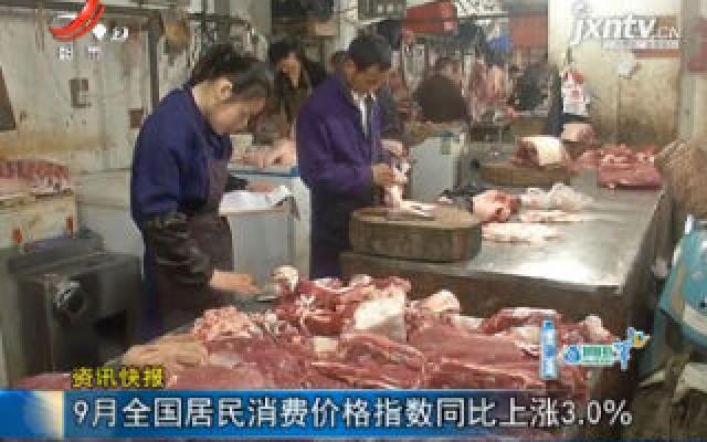 9月中国居民消费价格指数同比上涨3.0%