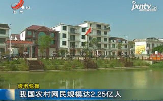 中国农村网民规模达2.25亿人