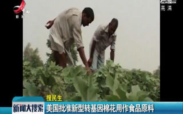 美国批准新型转基因棉花用作食品原料